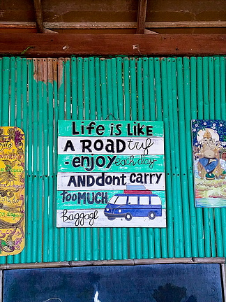 Life is like a road - enjoy and dont`t carry too much baggage